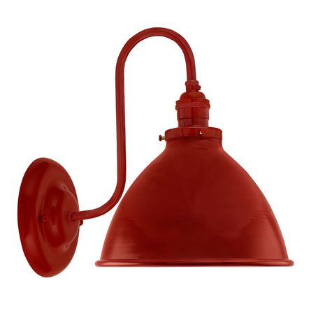 """8"""" Getty Sconce, 400-Barn Red"""
