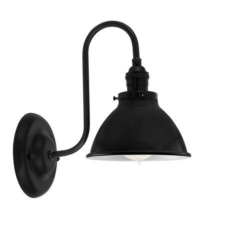 "6"" Getty Sconce, 100-Black"