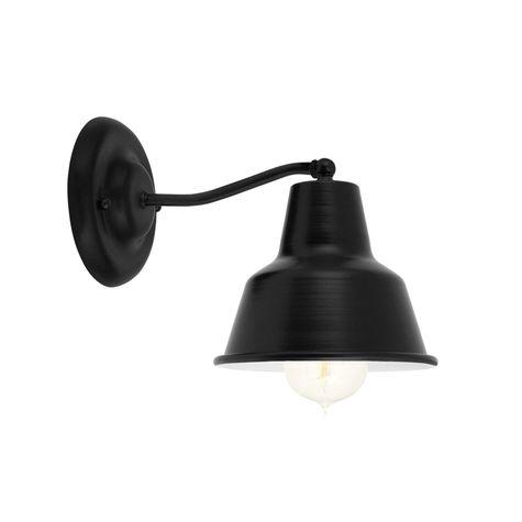 Barn Light Mini Artesia Wall Sconce, 100-Black, G37 Mini Gooseneck Arm | Shown with Nostalgic Edison Bulb