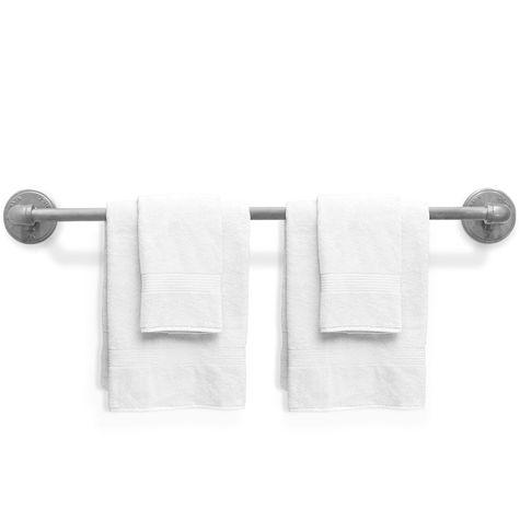 Industrial Towel Bar, Large, 975-Galvanized