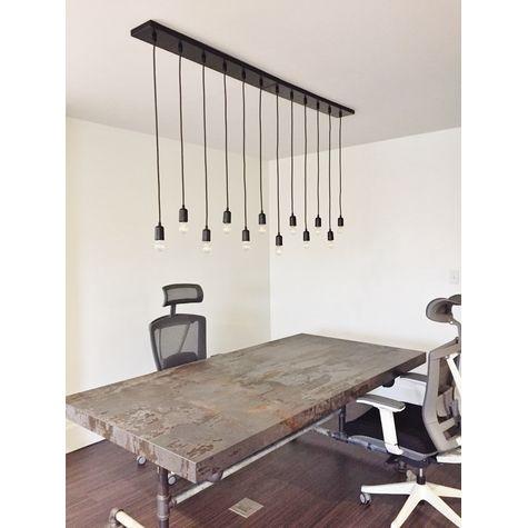 (2) 6-Light Pendant Chandeliers, 100-Black, SBK-Standard Black Cord