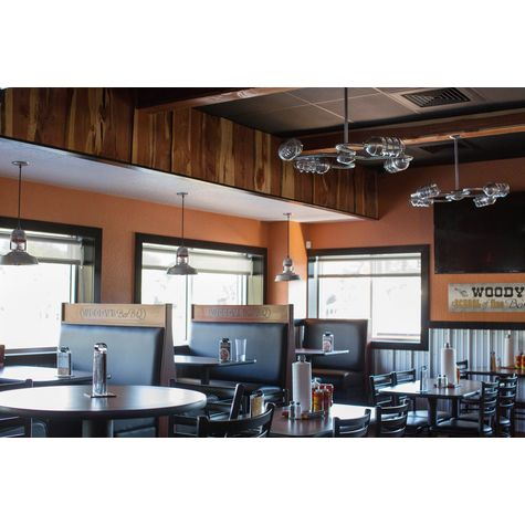 "(2) Orbiter 4-Light Chandeliers, 975-Galvanized Finish, 18"" Stem in 975-Galvanized Finish, Standard Canopy, CGG-Standard Cast Guard, CLR-Clear Glass 