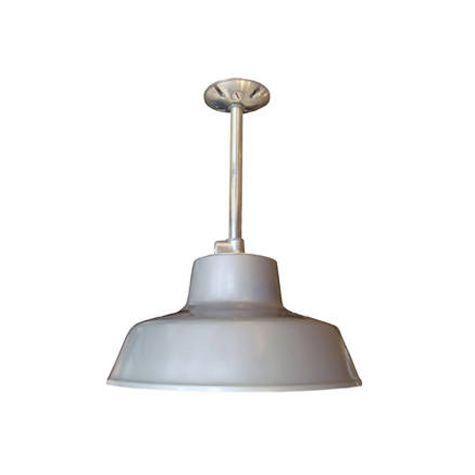 Farm & Barn All Weather Warehouse Ceiling Light Fixture, Grey, Gooseneck