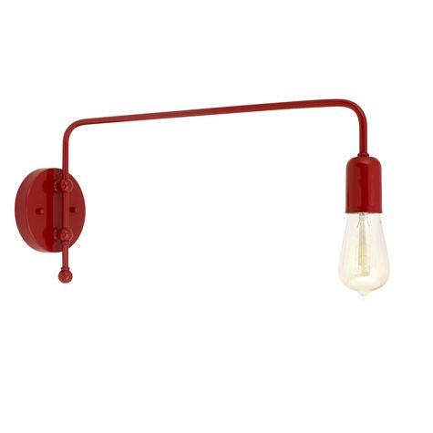 Downtown Swing Arm Sconce, 400-Barn Red, G68 Arm, Nostalgic Edison Style 1890 Era Bulb