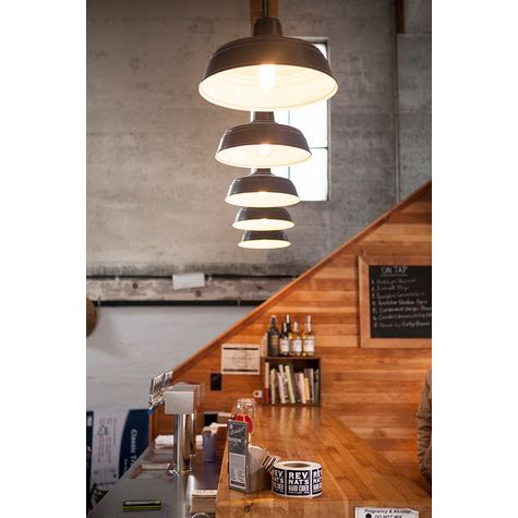 "(5) 13"" Farm & Barn Cord Hung Pendants, 100-Black 