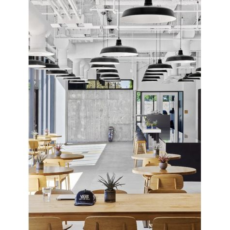 "28"" Original Warehouse LED Pendants, 100-Black 