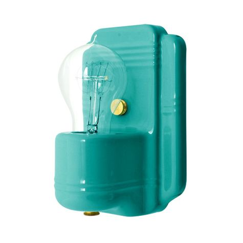 The Kao Wall Sconce, 390-Teal, Nostalgic Edison-Style Victorian 25W Light Bulb