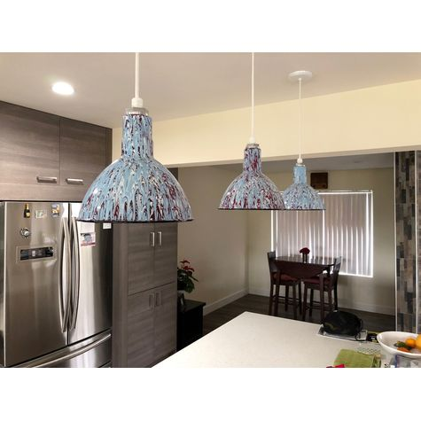 "(3) 10"" Pollock No. 08 Pendants, SWH-Standard White Cord 