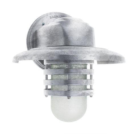 Streamline Industrial Ring Sconce, 975-Galvanized, Warehouse Shade, CCR-Clear Crackle Glass