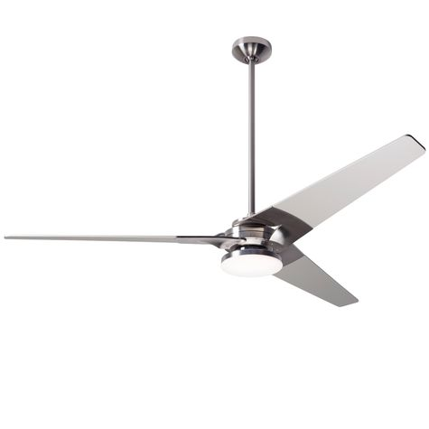 Torsion Ceiling Fan, Bright Nickel, Nickel Blades, 272 Light Kit